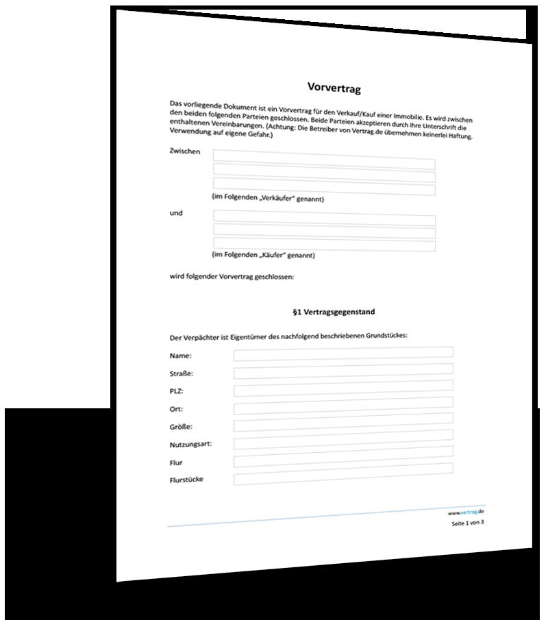 Kaufvertrag Grundstuck Muster Vorlage Word Und Pdf 0